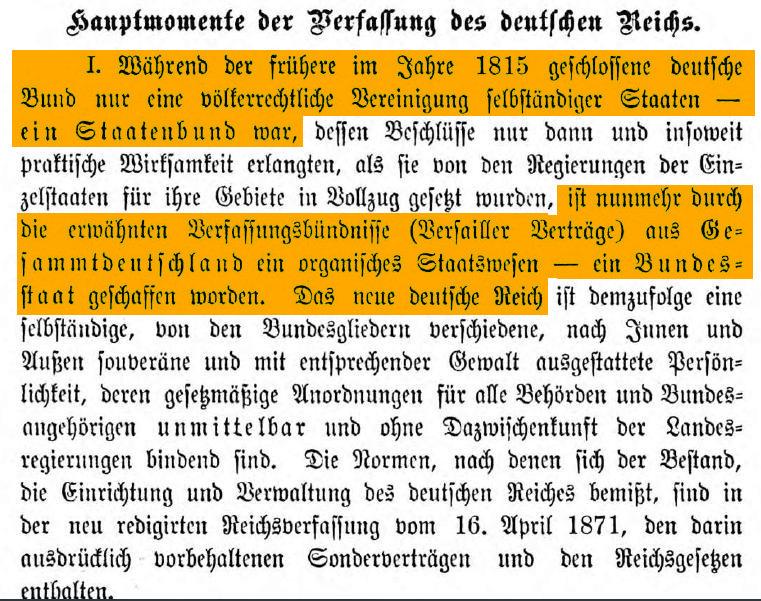 Rechtssubjekt Deutsches Reich bei Emil Riedel