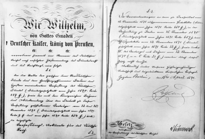 Verfassungsurkunde des Deutschen Reiches