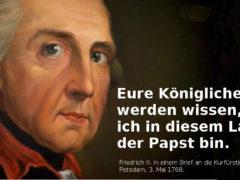 Ffriedrich II: Papst bin ich