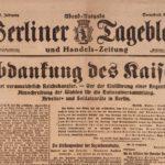 Berliner Zeitung November 1918