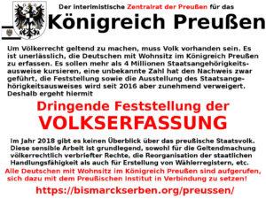 Aufruf zur Volkserfassung in Preußen