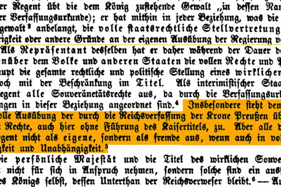 Reichsverweser für das Königreich Preußen