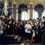 Ausrufung des Deutschen Kaisers im Spiegelsaal von Versailles 1871