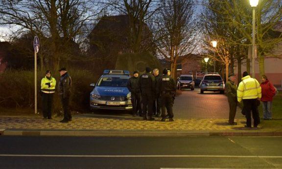 Polizeiaufgebot am Bismarckstein in Teterow