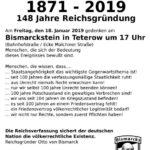 Mitteilung zum Gedenken der Reichsgründung