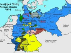Bundesgebiet Deutsches Reich am 27.7.1914