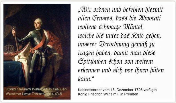 Spitzbubenerlass Friedrich Wilhelm I.