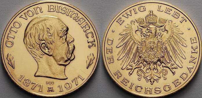 Bismarck Gedenkmünze: Ewig lebt der Reichsgedanke