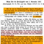 Reichsgesetz über die Freizügigkeit vom 1. November 1867