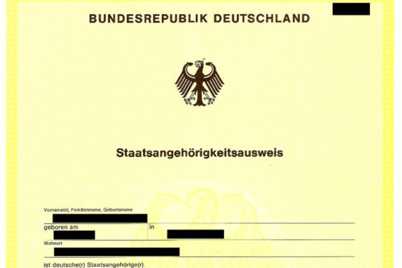 Staatsangehörigkeitsausweis (Gelber Schein)