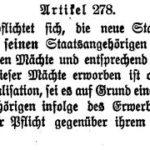 Artikel 278 des Versailler Vertrages